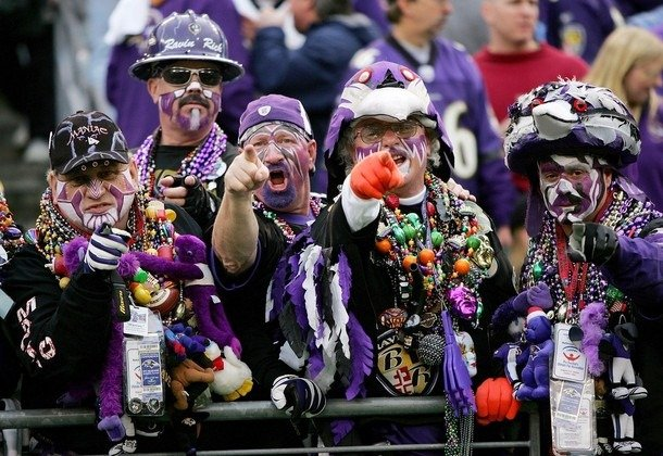 e430e93e0 Baltimore Ravens fans are a weird bunch. They start every season off as one  of the most die-hard