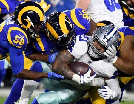 Zeke stopped against the rams
